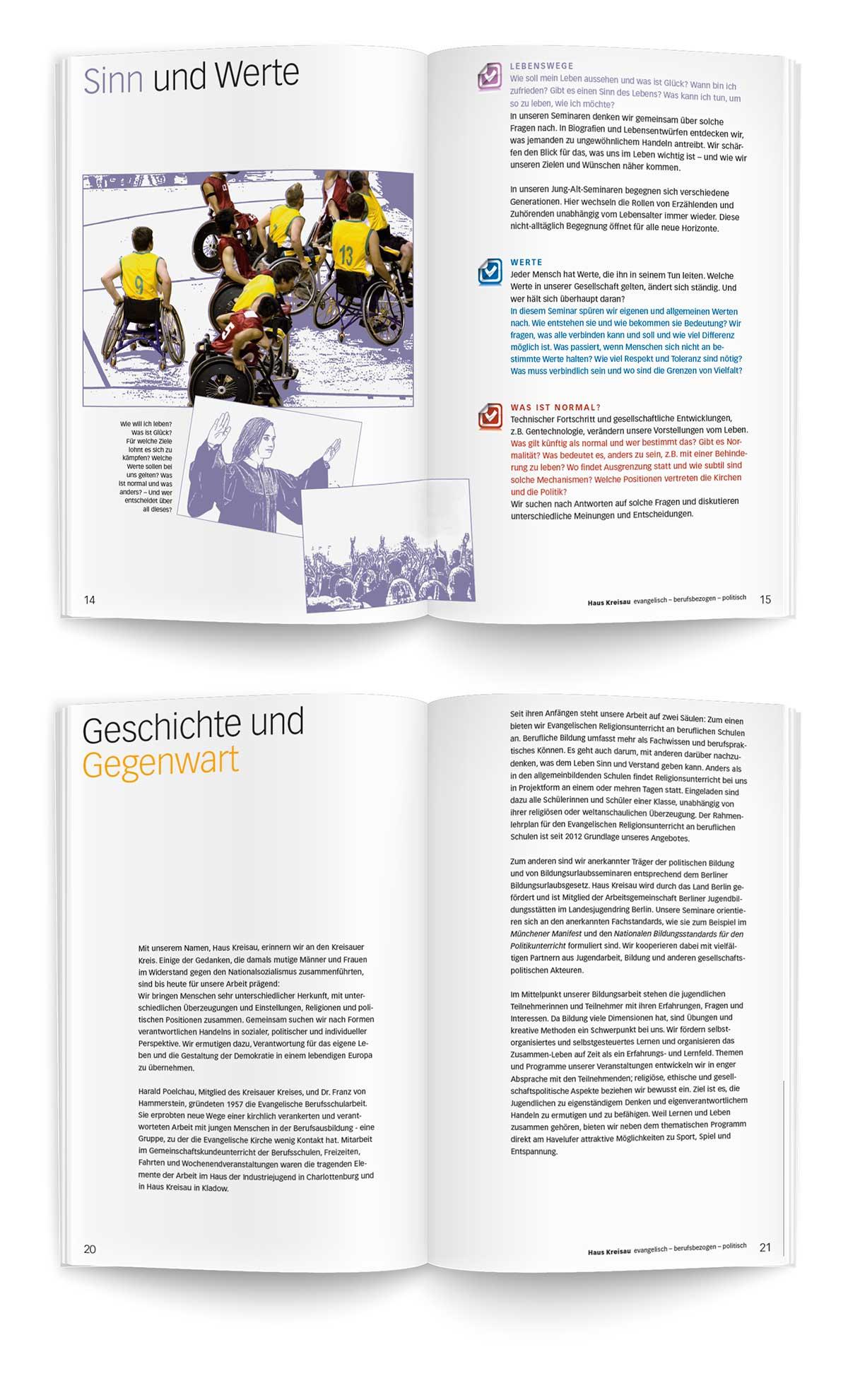 Evangelische Berufsschularbeit Haus Kreisau Image Broschüre Teil 2