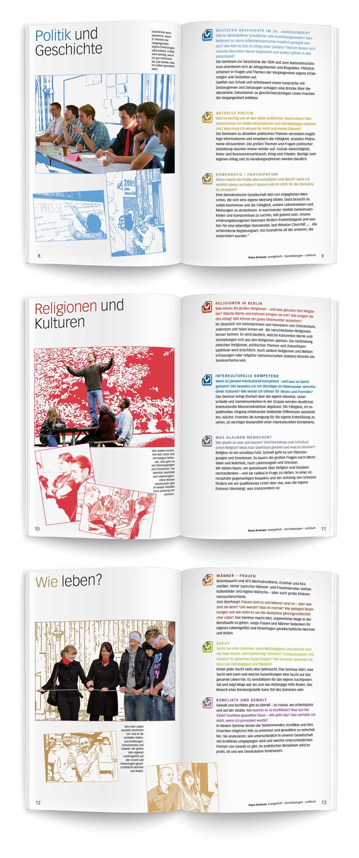Evangelische Berufsschularbeit Haus Keisau Image Broschüre