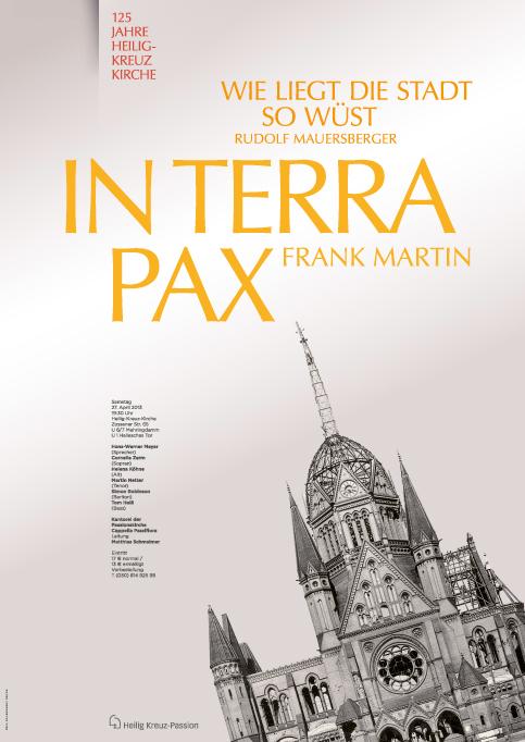 Poster zum Chorkonzert der Kantorei Heilig Kreuz Passion