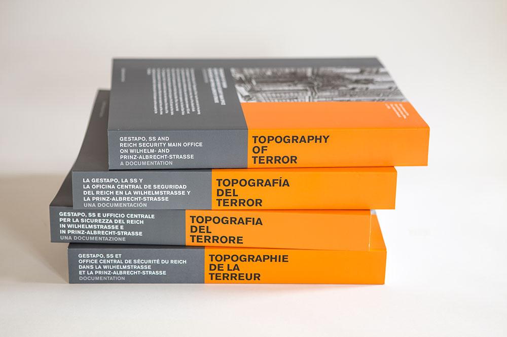 Topographie des Terrors; Kataloge in unterschiedlicher Sprache; Überarbeitung Zech Dombrowsky Design