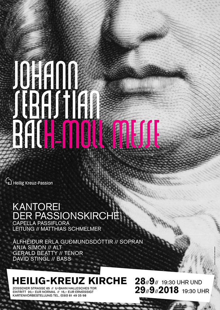 Poster DIN A1 Johann Sebastian Bach h-Moll-Messe; Walter Dombrowsky