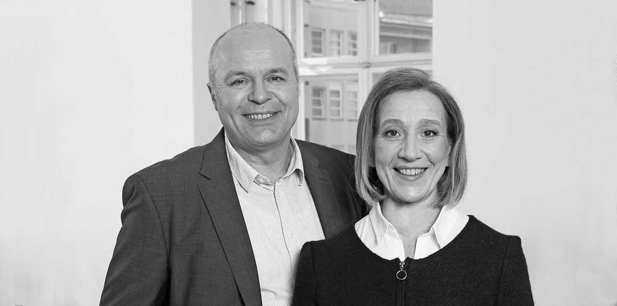 Uta Zech und Walter Dombrowsky, das Team von Zech Dombrowsky Design