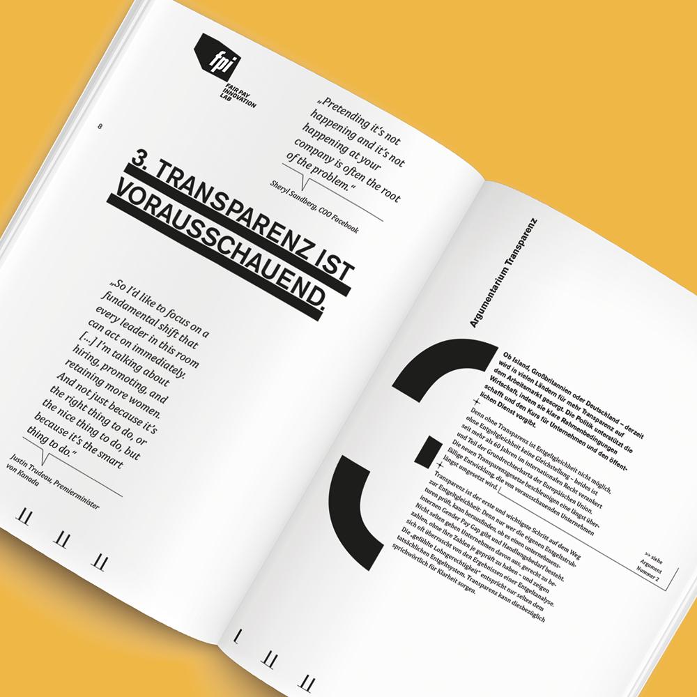 FPI Argumentarium, Magazingestaltung Zech Dombrowsky Design