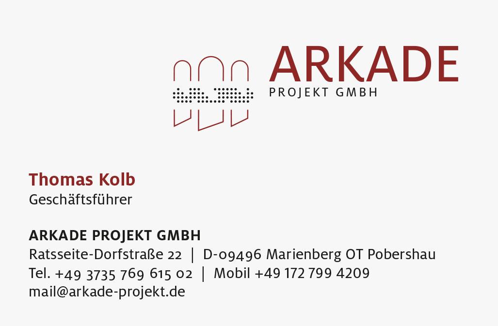 Arkade Projekt GmbH, Logogestaltung und Visitenkarte Zech Dombrowsky Design