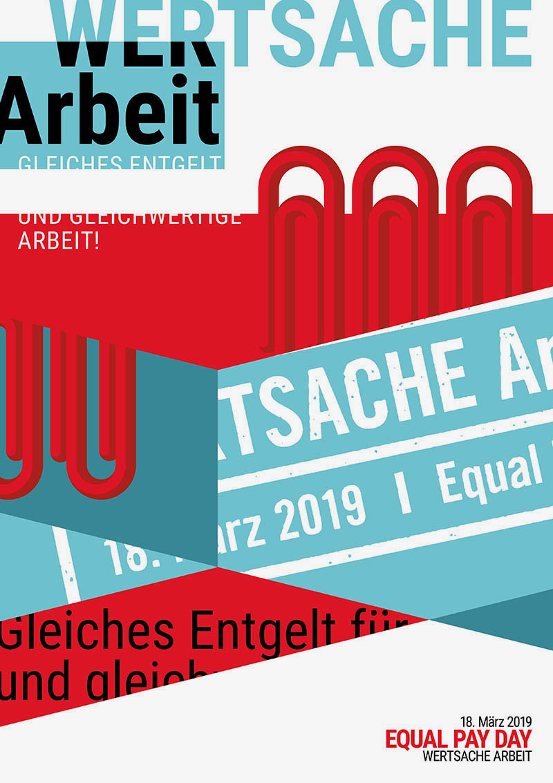 Plakat zum Equal Pay Day 2019
