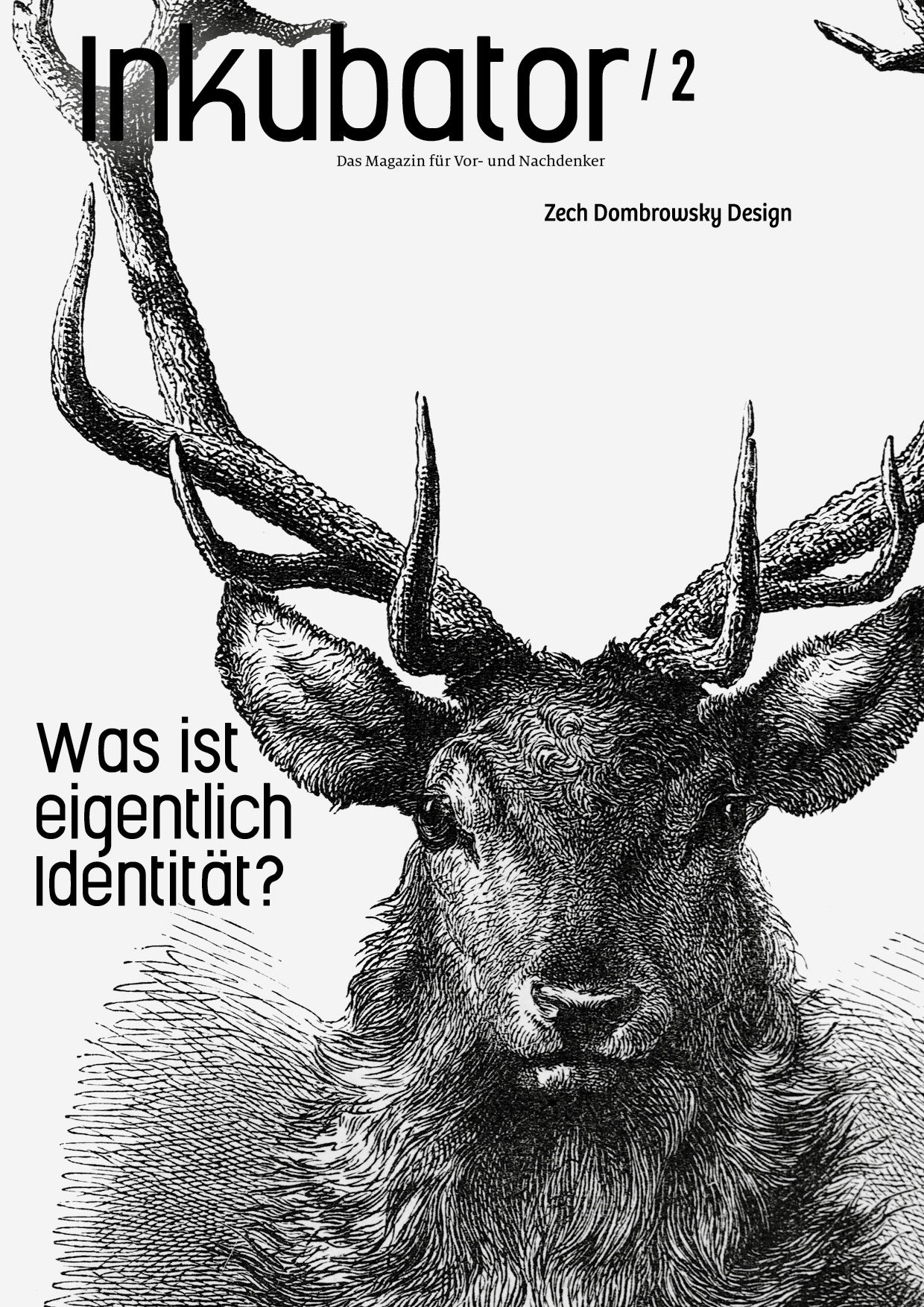 Inkubator-Titelblatt des Hausmagazins von Zech Dombrowsky Design