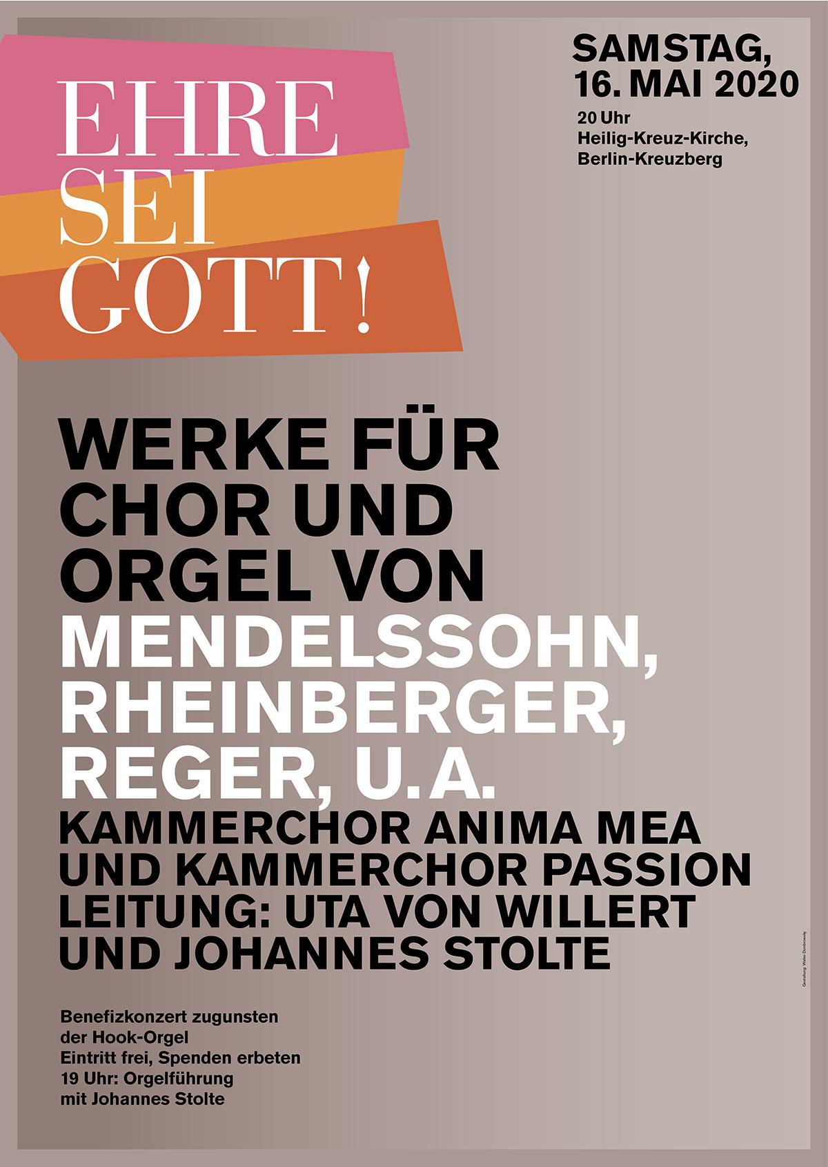 Plakat von Walter Dombrowsky