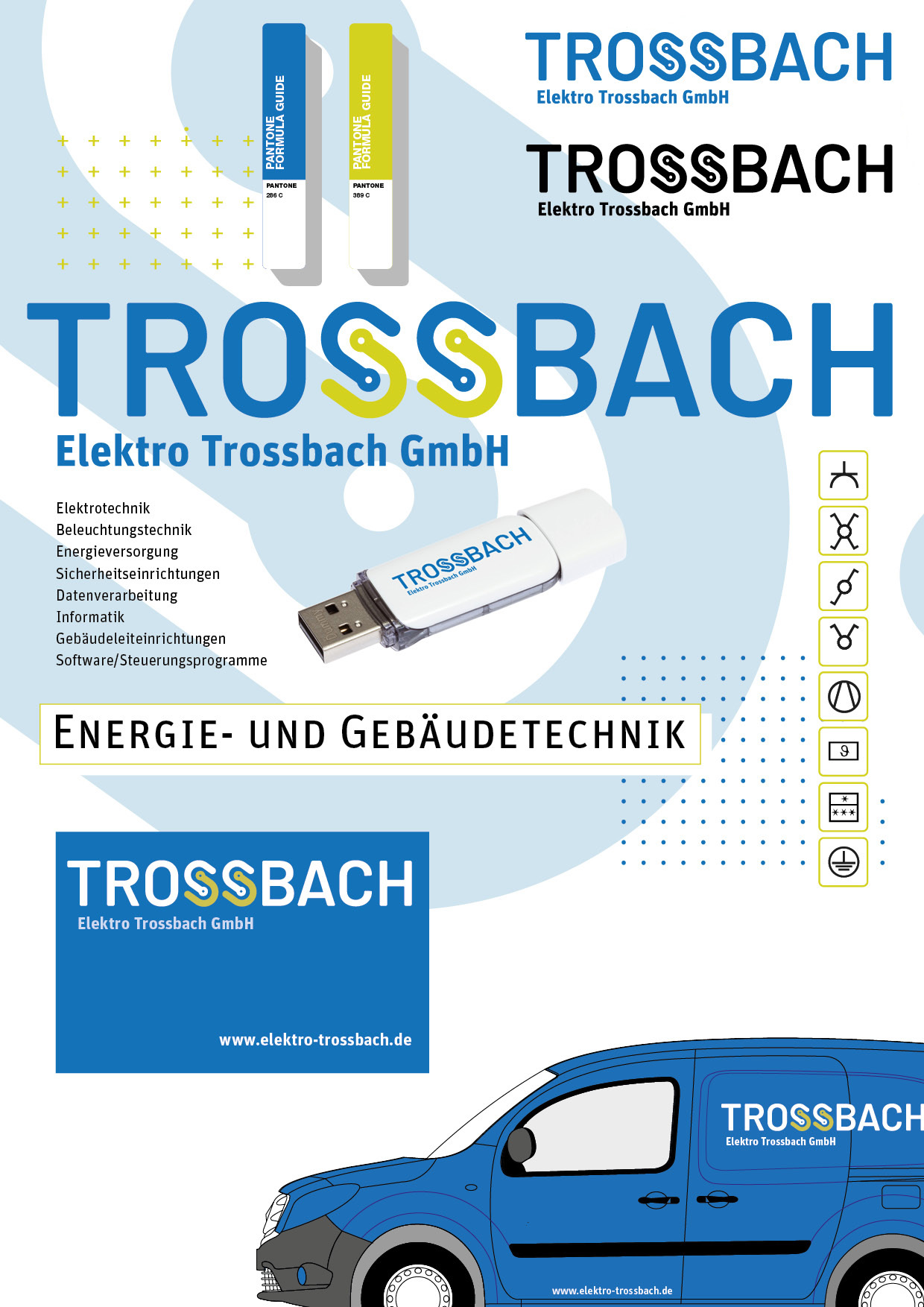 Corporate Design für das Gebäude- und Energietechnik-Unternehmen Trossbach in Ulm