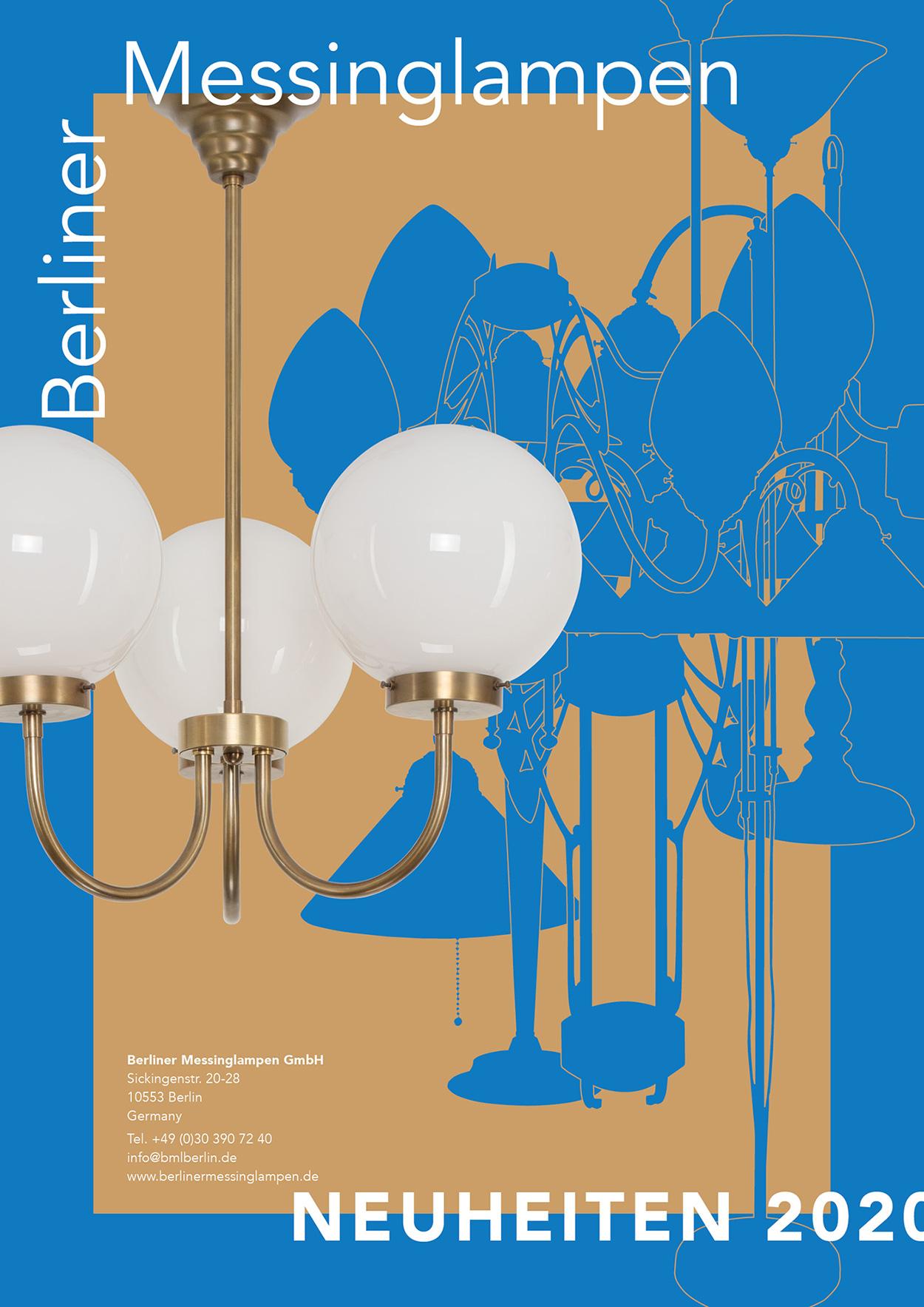 Katalog der Berliner Messinglampen GmbH mit Neuheiten 2020