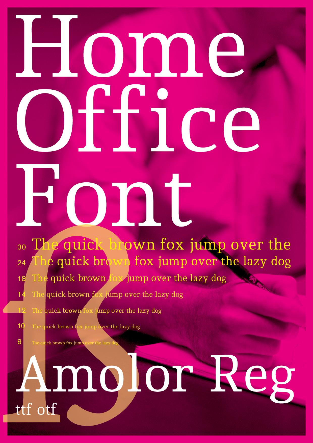 Projekt Schriftentwicklung des Corporate Fonts Amolor Regulär von Walter Dombrowsky und Manuel Viergutz
